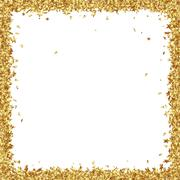 Squarish Frame Consists from Golden Asterisks - stock illustration