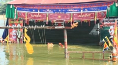 Performing water puppetry,Asia Stock Footage