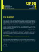 Modern cover letter cv resume template with arrows - stock illustration