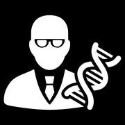 Genetic Engineer Icon - stock illustration