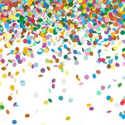 Confetti Background Template - Falling Chads Backdrop - stock illustration
