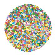 Abstract Rounded Colourful Vector Confetti Heap Shape on White Background Piirros