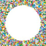 Stock Illustration of Rounded Free Text Area Formed of Colorful Confetti - Dots, Polka Dots, Points