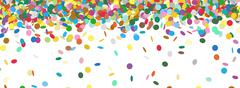 Confetti Rain - Colorful Panorama Background Template - stock illustration