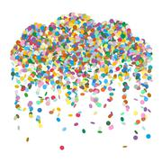 Abstract Colourful Raining Confetti Cloud Vector - stock illustration