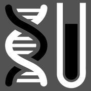 Genetic Analysis Icon - stock illustration