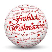 White 3D Sphere with Mapped Red Holiday Season Texture - stock illustration