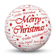 White 3D Sphere with Mapped Red Holiday Season Texture Stock Illustration