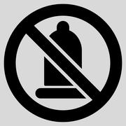 Stock Illustration of Forbidden Condom Icon