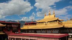 Jokhang temple Lhasa Tibet China Stock Footage