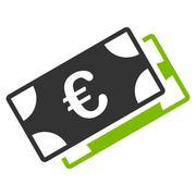 Euro Banknotes Icon Stock Illustration
