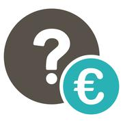 Euro Balance Query Icon Stock Illustration