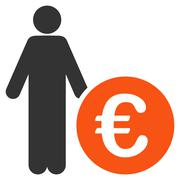 Euro Investor Icon Stock Illustration