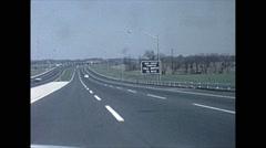 Vintage 16mm film, 1962, NJ/NY, drive plate NJ Turnpike, toll booth - stock footage