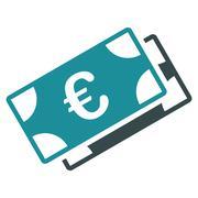 Euro Banknotes Icon - stock illustration