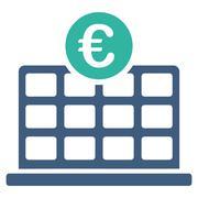 Euro Hotel Icon - stock illustration