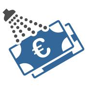 Euro Money Laundry Icon - stock illustration