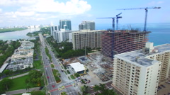 Millionaires Row Bal Harbour aerial video 2 - stock footage
