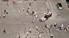Crowd Of People In Stephansplatz Square Stock Footage