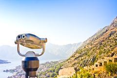 City view binocular in Kotor Stock Photos