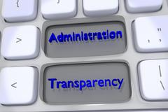 Administration Transparency concept - stock illustration