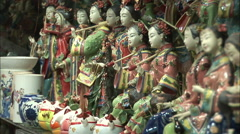 Chinese porcelain doll figurines Stock Footage