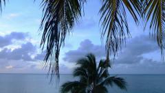 Aitutaki lagoon Cook Islands Stock Footage