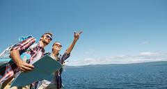 Active travelers - stock photo
