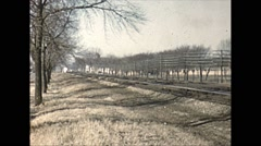 Vintage 16mm film, 1962, NJ/NY, NYC passenger train Stock Footage
