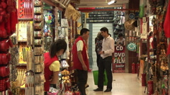 Beijing craft and souvenir market, China Stock Footage