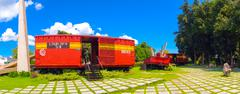 Stock Photo of SANTA CLARA, CUBA - SEPTEMBER 08, 2015: This train packed with government