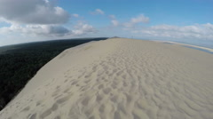 Aerial view of the Dune du Pilat Stock Footage