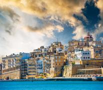 View on Valletta from sea Stock Photos