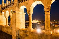 View from bastion archs on Budapest Stock Photos