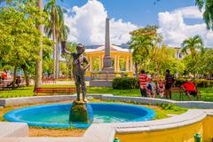 SANTA CLARA, CUBA - SEPTEMBER 08, 2015:View, downtown in the capital city of - stock photo