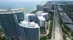 Ritz Carlton Bal Harbour aerial video 2 Stock Footage