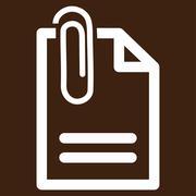 Attach Document Vector Icon - stock illustration