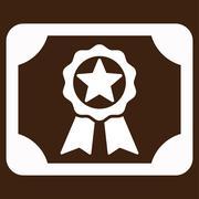 Stock Illustration of Award Diploma Vector Icon