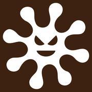 Evil Bacteria Vector Icon - stock illustration