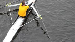 BOATING, ROWING TEAM Stock Footage