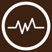 Pulse Monitoring Vector Icon - stock illustration