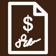 Signed Invoice Vector Icon Stock Illustration