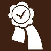 Validation Seal Vector Icon - stock illustration