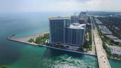 Ritz Carlton Bal Harbour aerial video Stock Footage