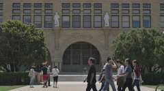 Open day at the Stanford University campus, California. Stock Footage