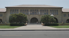 Open day at the Stanford University campus, California. - stock footage