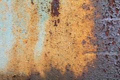Chipped Paint On Rusty Metal Stock Photos