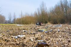 Polluted landscape Stock Photos