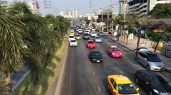 Timelapse of evening Bangkok transportation traffic Stock Footage