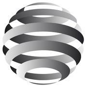 Sphere From Streaks Stock Illustration
